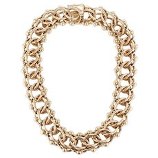 Retro 14K Tiffany and Co. Double Link Collar Necklace