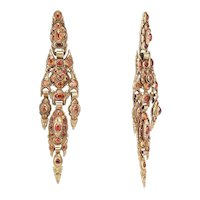 18th C Iberian Hessonite Earrings