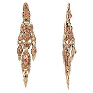 18th C Iberian Hessonite Earrings