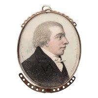 Georgian Portrait Miniature Clasp