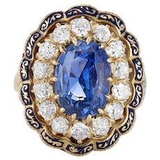 14K Victorian Sapphire and Diamond Ring