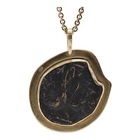 Bar Kochba Coin Pendant in 18K Frame