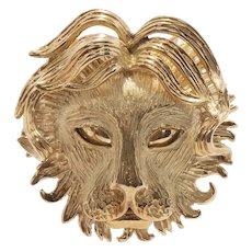 Vintage 18k Leo the Lion Zodiac Pendant - French c1960