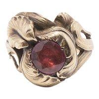 18K Art Nouveau Iris Ring