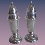 Matching Pr. Sterling Silver Salt & Pepper Shakers #1