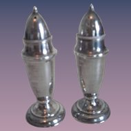 Matching Pr. Sterling Silver Salt & Pepper Shakers #2