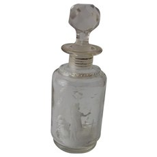Antique & Unique Glass Perfume Bottle in the Mary Gregory Design