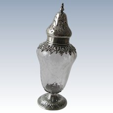 Antique Sterling Silver Muffineer (Sugar Sifter) by American Silversmith Wm. B. Durgin