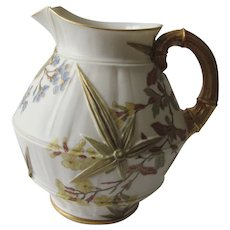Royal Worcester Bamboo Water Pitcher c. 1887
