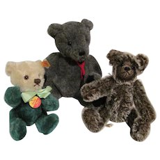 Collectible Teddy Bears - 3  in All - Steiff, Gund, Debbi Peek