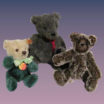 Collectible Teddy Bears - 3  in All - Steiff, Gund, Debbi Peek