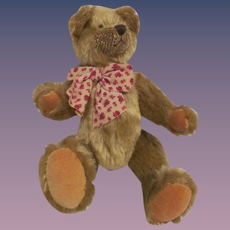 Collectible Mohair Style Fully Jointed Teddy Bear by Gund