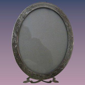 Sterling Silver Oval Portrait Frame - Unger Bros.