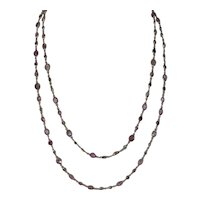 "Stunning 14kt Solid Gold Natural Multi-Color Gemstone 34"" Linked Necklace...100 stones over 10 cts. total"