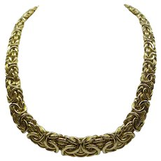 Estate 14kt Italian Hand made Wide flexible Linked Chain...Beautiful 35.5 Grams