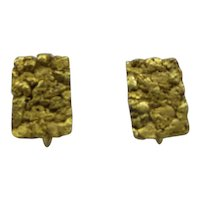 Rare Natural Earth Mined Gold Nuggets Custom Made Earrings...Antique 10.2Grams