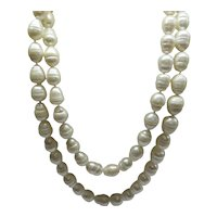 """Magnificent Contiguous Large and Long Strand of Baroque South Sea Pearls,   21"""" Length.....  72 Large Pearls."""
