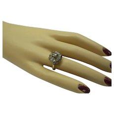 Original 1870's Solid 14kt Victorian Natural Rose Cut Diamond Cluster Ring....Beautiful Antique