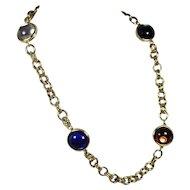Vintage Colorful Glass Orb Necklace