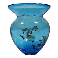 Mid-Century Murano Art Glass Aquarium Fish Vase