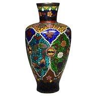 Japanese Foil Cloisonne Vase Meiji Period
