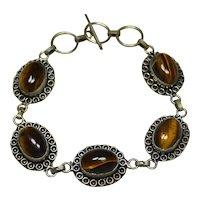 Sterling Tiger's Eye Bracelet