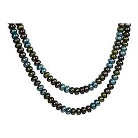 """Set of 2 Honora Cultured Freshwater Pearl Necklaces 18"""" and 20"""""""