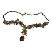 Vintage Avon Glass Bead Dangle Necklace