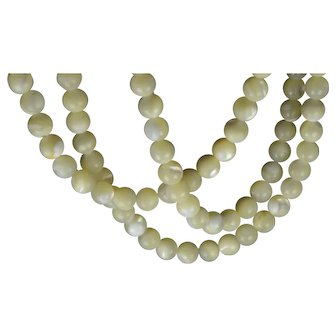 Luminous Mother of Pearl MOP Bead Necklace