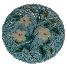 Vintage Villeroy Boch Turquoise Majolica Plate