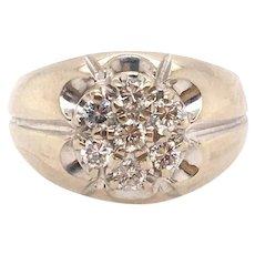 Diamond Ring Vintage Unisex