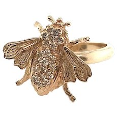 14k Bee/Insect Vintage Ring