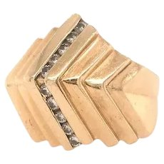 Vintage Diamond 1970'S Ring