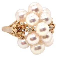 Vintage Pearl RIng Jewelry 14k