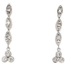Vintage Diamond Earrings 14k