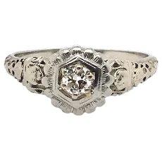 Vintage Engagement Diamond 18K Ring