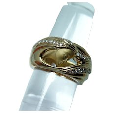 Carrera Y Carrera Diamond Lady with Flowing Hair Ring 18K Gold Designer