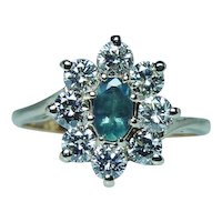 Natural Genuine Alexandrite 18K Gold Diamond Ring