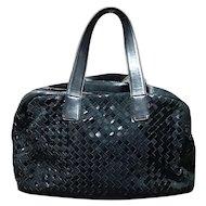 Bottega Veneta Handbag Black Shoulder Bag Italy Excellent