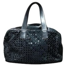 0653e3b9a741 Bottega Veneta Handbag Black Shoulder Bag Italy Excellent