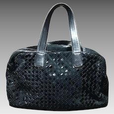 Bottega Veneta Handbag Black Shoulder Bag Italy Excellent