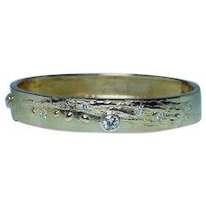 Bjorn Weckstrom Lapponia Diamond 14K Gold Bracelet Designer Modernist