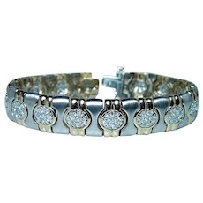 Diamond Bracelet 14K Gold Designer 33gr Heavy 2.5cts