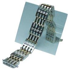 Very Heavy 2ct Diamond Bracelet 14K Gold Designer Estate 2oz Vintage