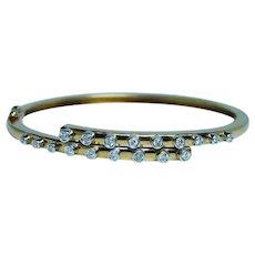 Diamond Bracelet 18K Gold Bangle Fine Designer