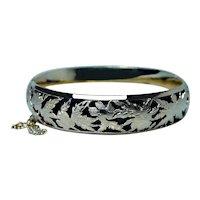 Bracelet 14K Gold Heavy Designer Handmade Foliate Motif