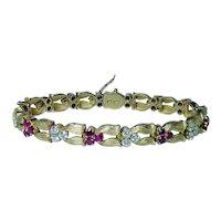 Gubelin Diamond Ruby Bracelet 18K Gold Swiss Designer Heavy 4.1ct