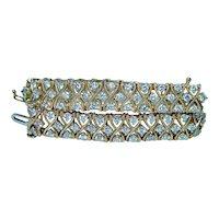 3.80ct Diamond Line Tennis Bracelet Designer 14K Gold