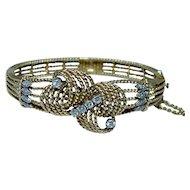 Diamond Bracelet 18K Gold Heavy Signed