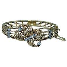 Vintage 18K Gold Diamond Bracelet Heavy Estate Signed